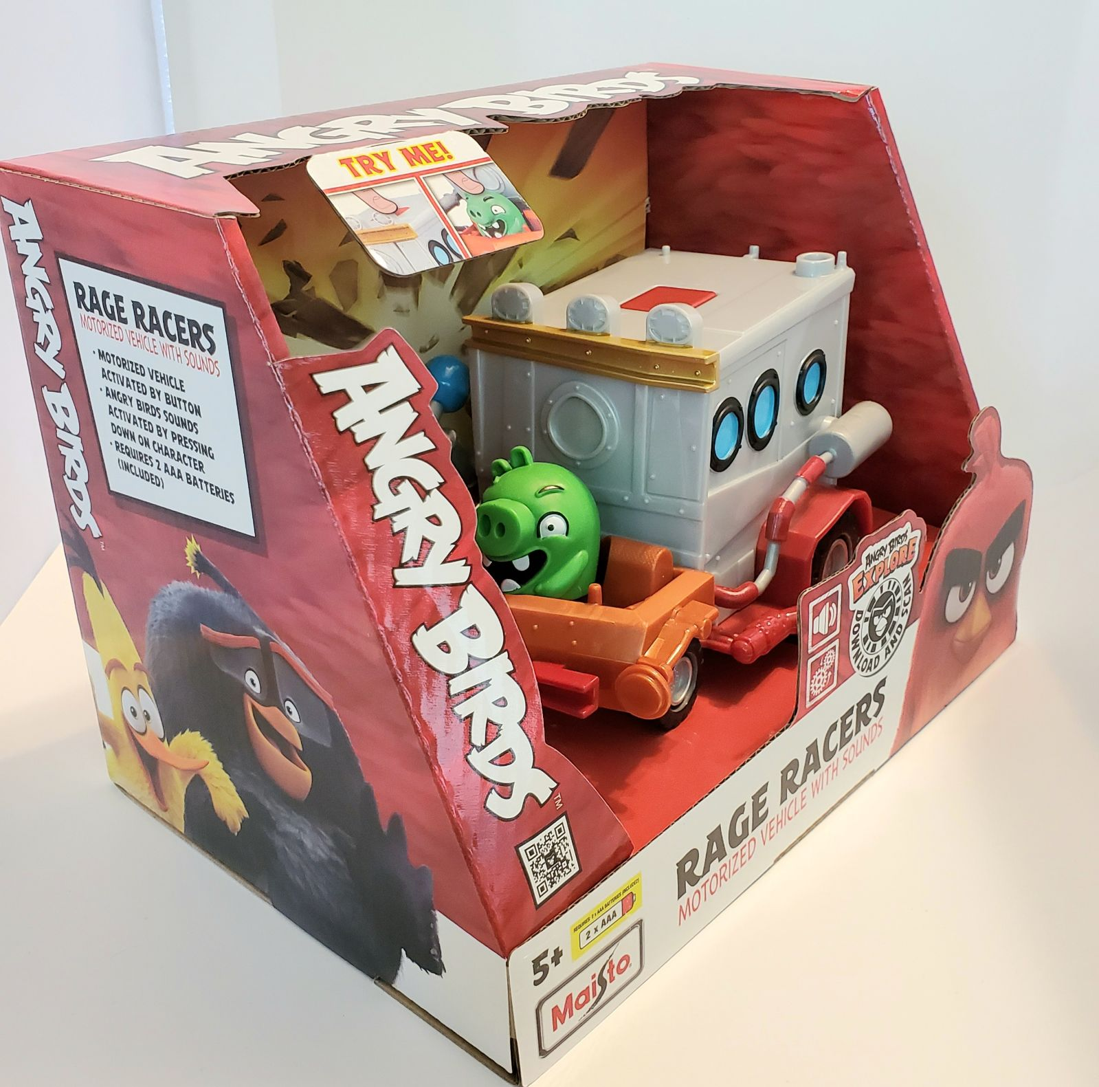 NEW Angry Birds Rage Racers Car Motorize
