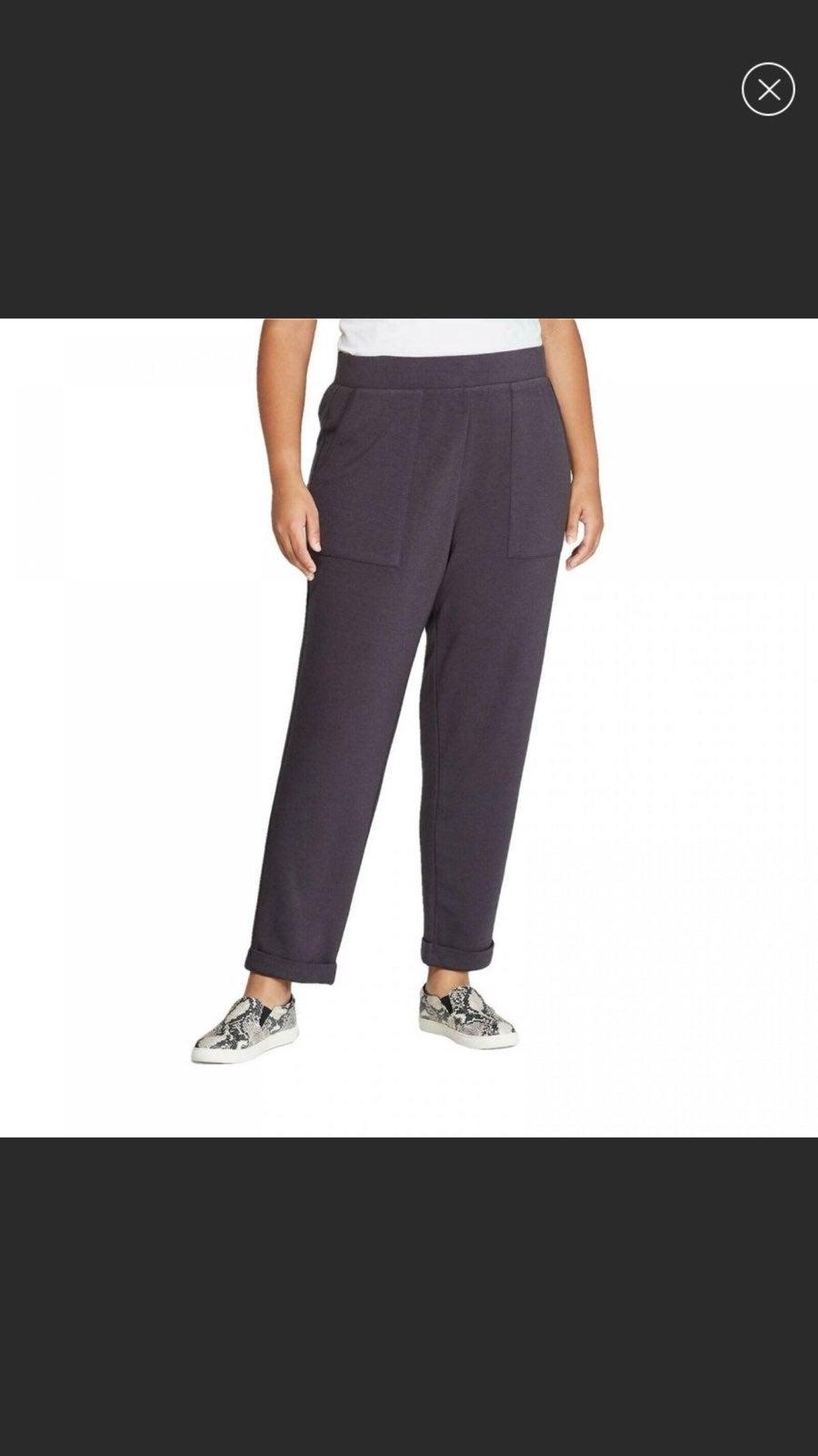Ava & Viv Gray lounge pants with pockets