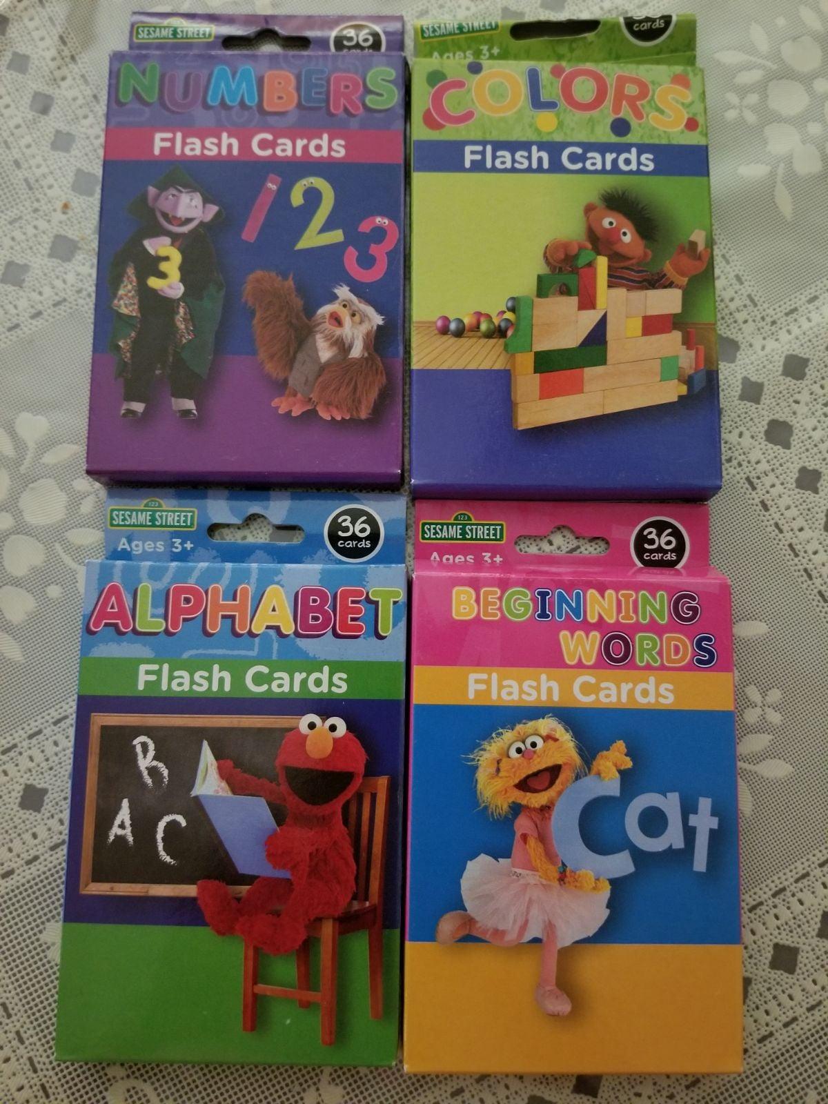 Sesame Street Flash Cards Bundle 4 Pack