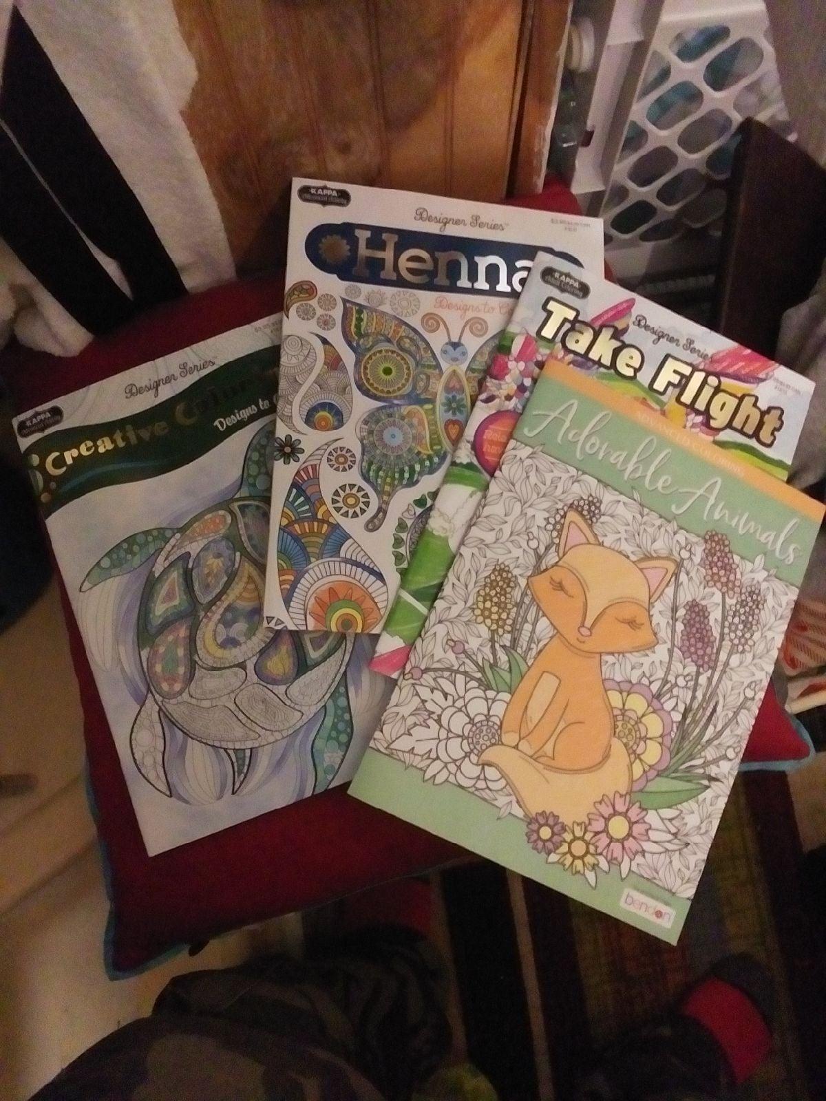 Advanced Coloring Books Bundle×4
