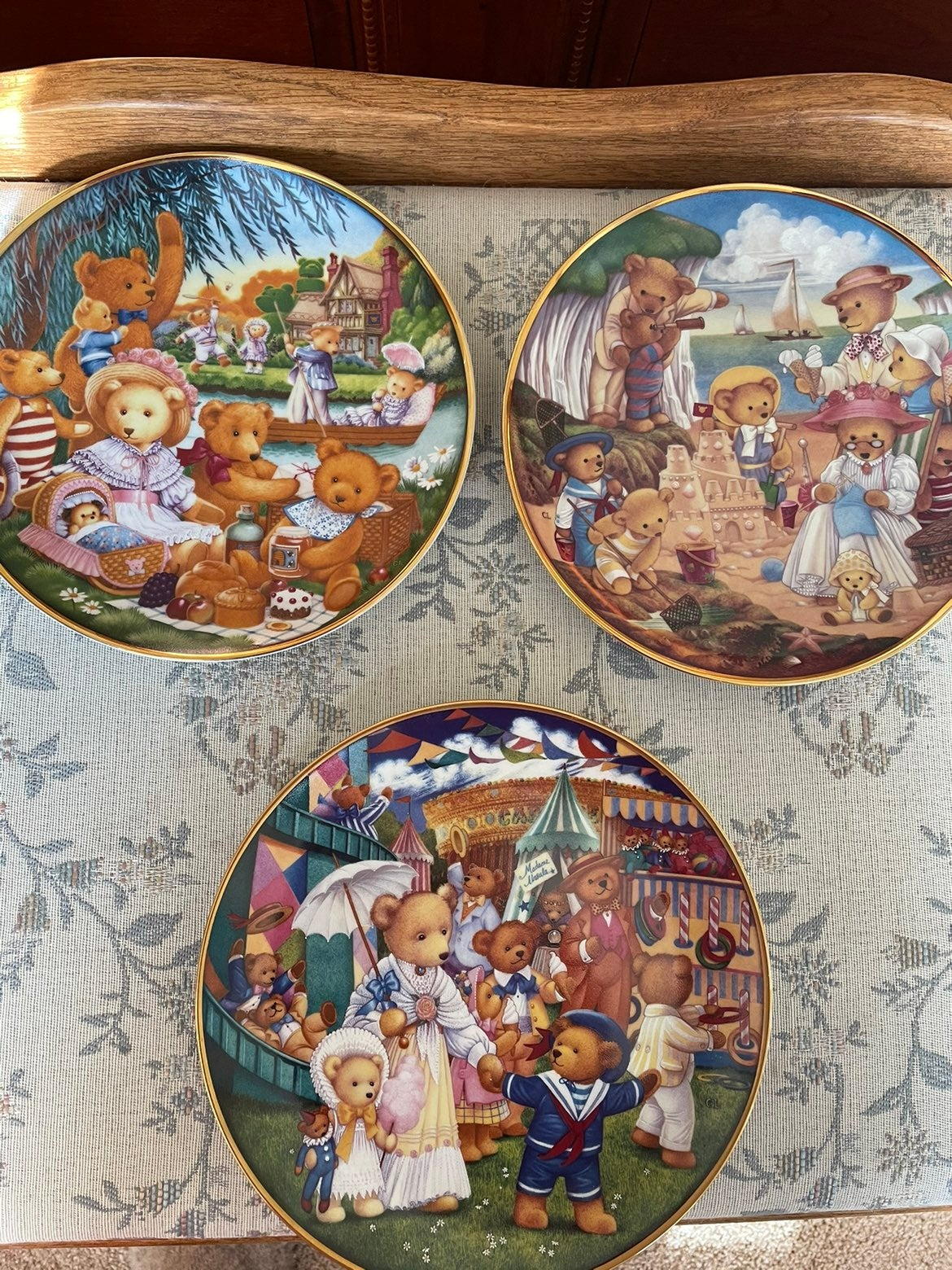 Franklin Mint Heirloom Teddy Bear Plates