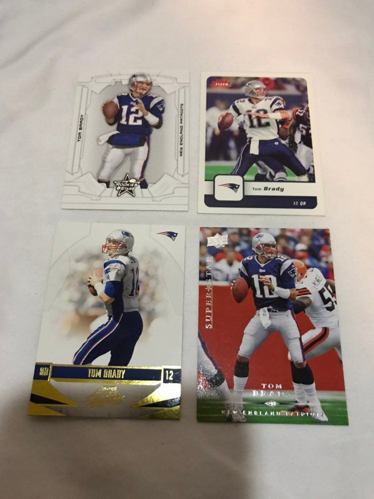 Tom brady football card collection nfl
