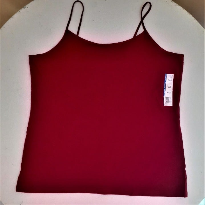 Time & Tru fitted red scoop neck cami 3X