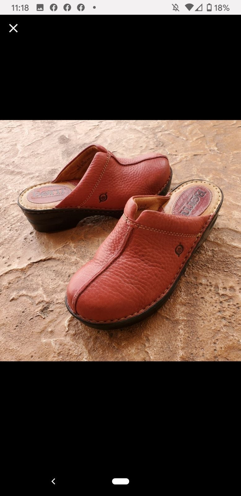 BORN red leather mules NEW!!!