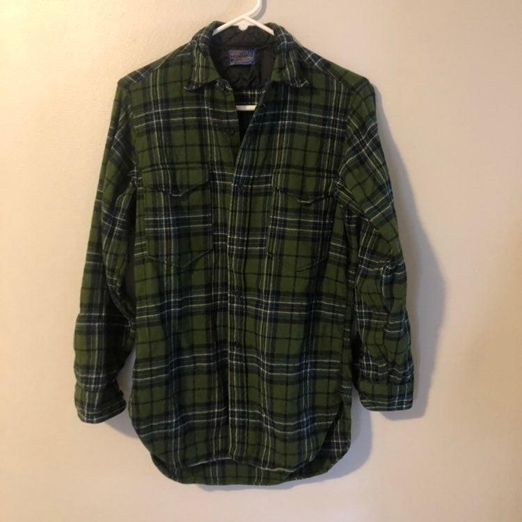 Vintage Pendleton Green Plaid Shirt