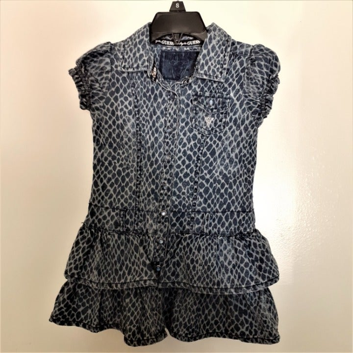 Guess blue denim s/s dress Size 4