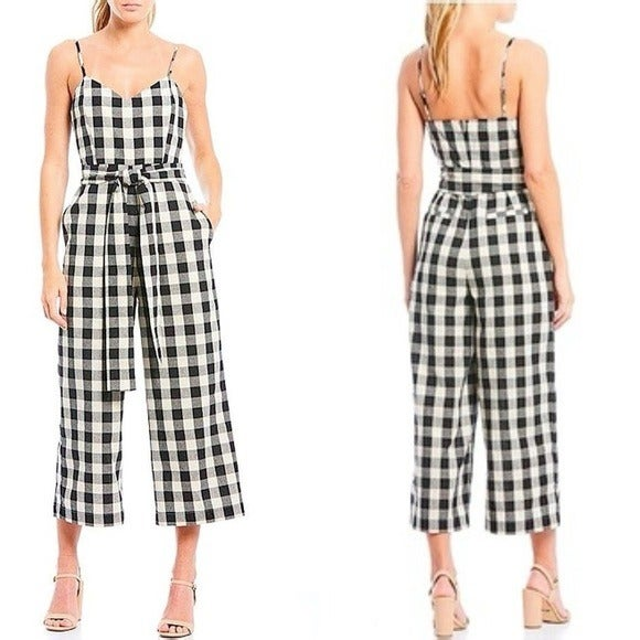 English Factory Black Gingham Jumpsuit