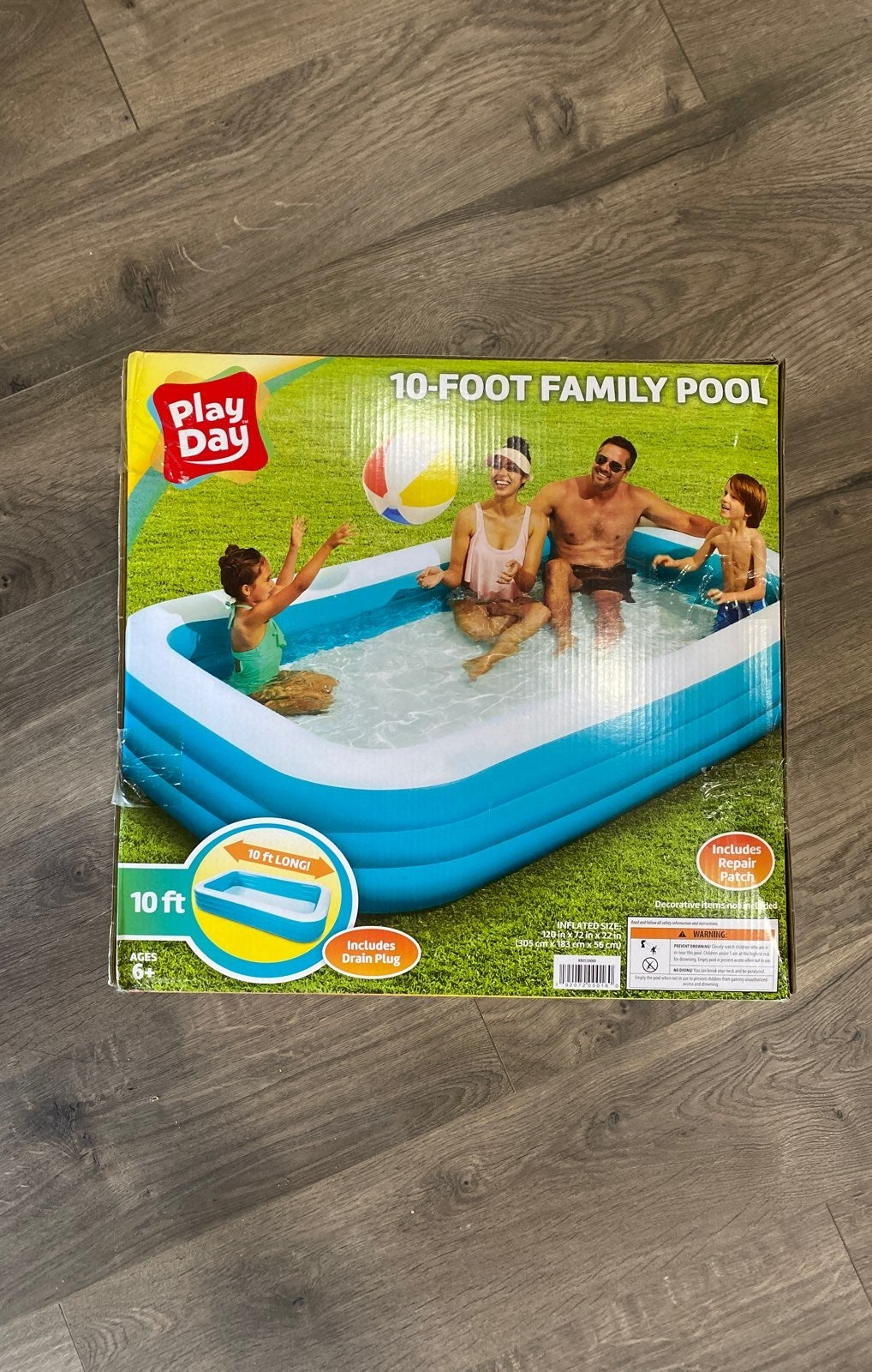 Play Day Rectangular Inflatable Family P