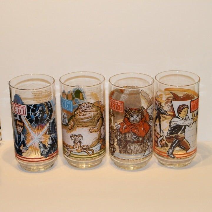1983 Return of the Jedi BK Glasses Set