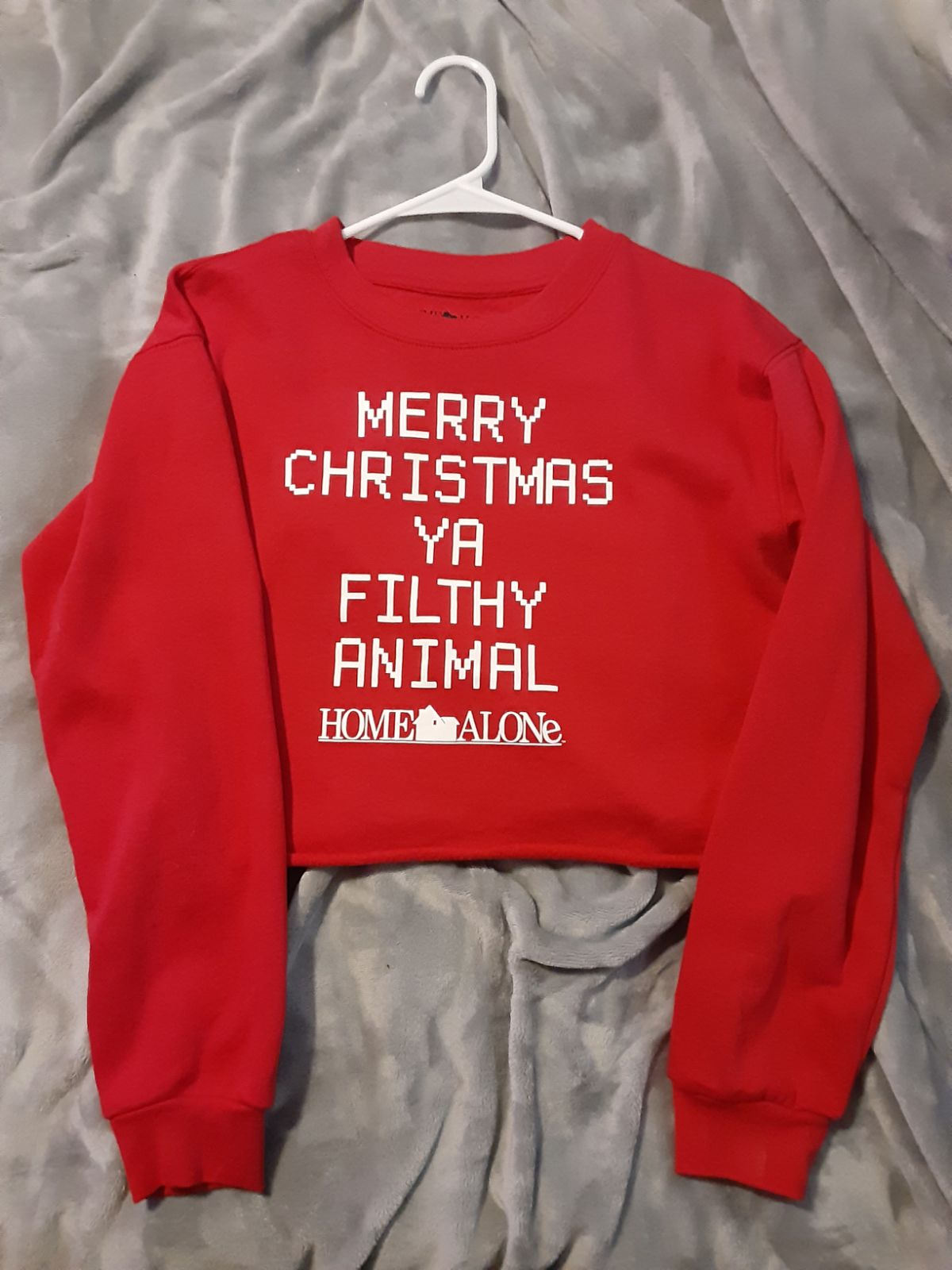NEW Home Alone christmas crop top sweate