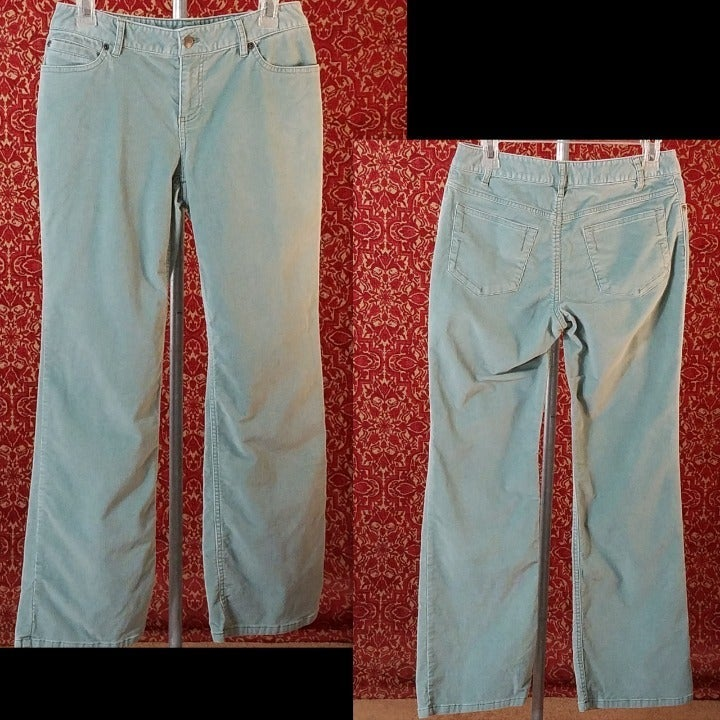 J.JILL pale green corduroy pants 4P