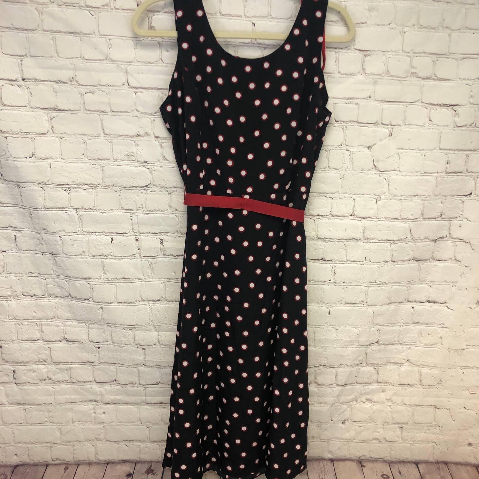 Studio 1 Polka Dot Midi Dress Size 14P