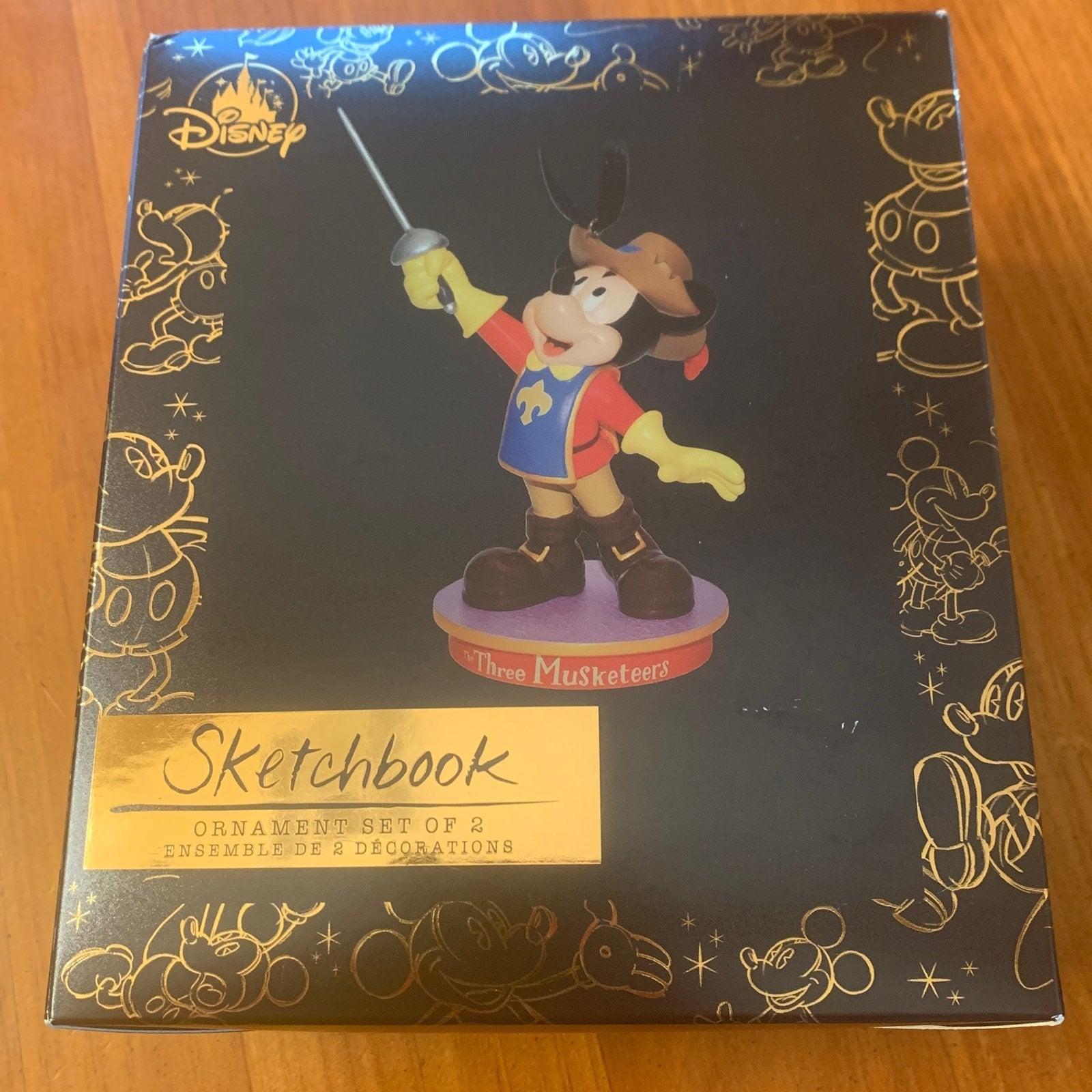 Disney Sketchbook Three Musketeers set o