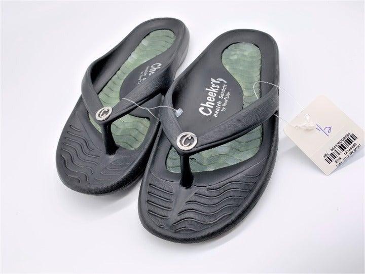 Cheeks Health Flip Flops Green Size 6