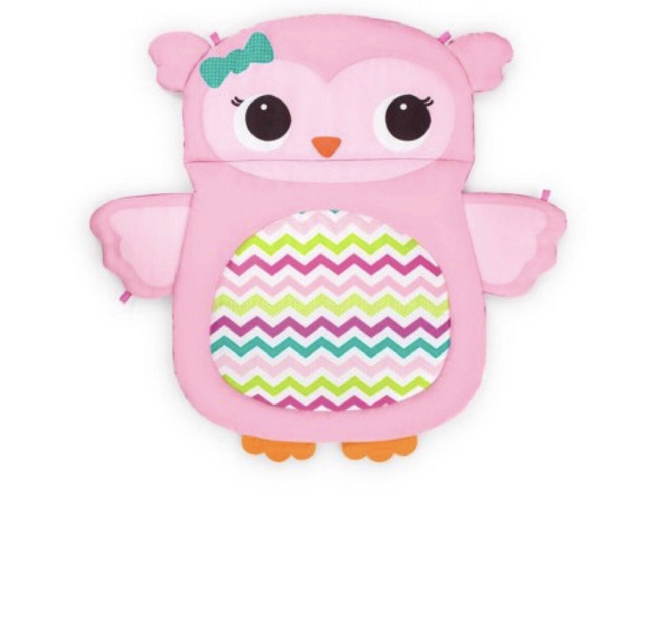 Bright Star Tummy Time Pink Owl