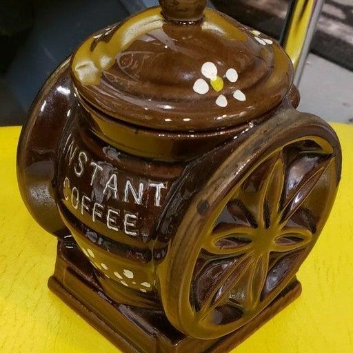 Vintage instant coffee mill  jar