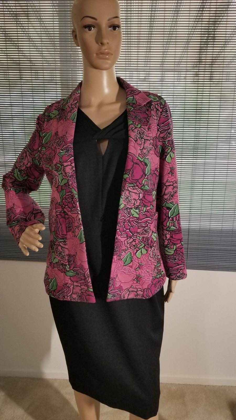 Lularoe blazer pink floral NWOT sz XS