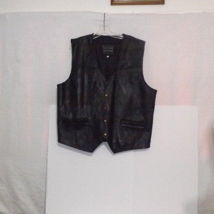 Men Navarre Leather Vest Italian Design