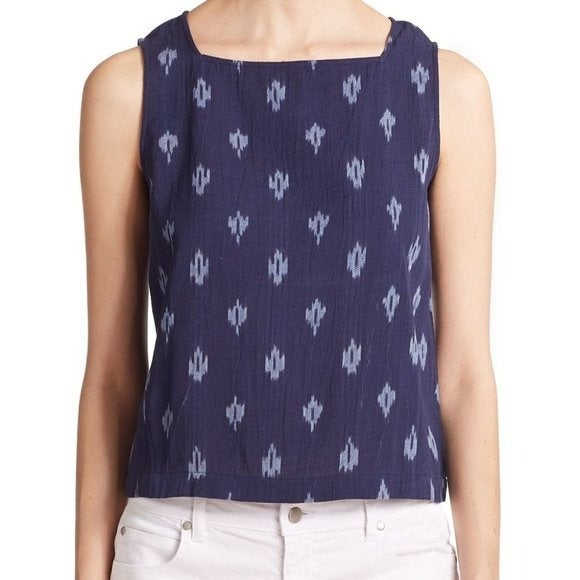 Eileen Fisher Ikat Square Neck Tank Top