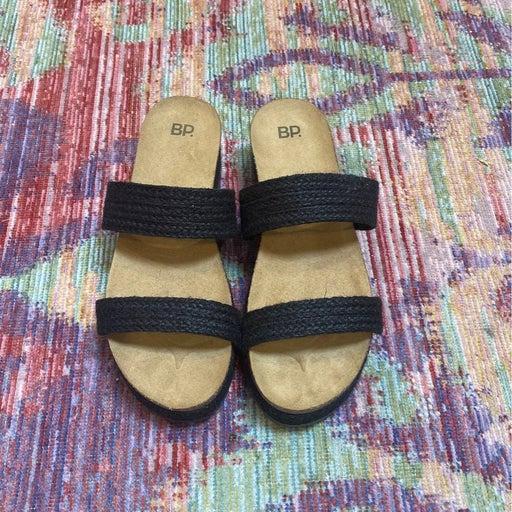 BP sandals - black straps - size 10