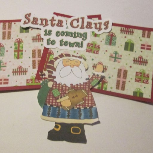 Santa Claus Is Coming To Town - Scrapbook or Card Set