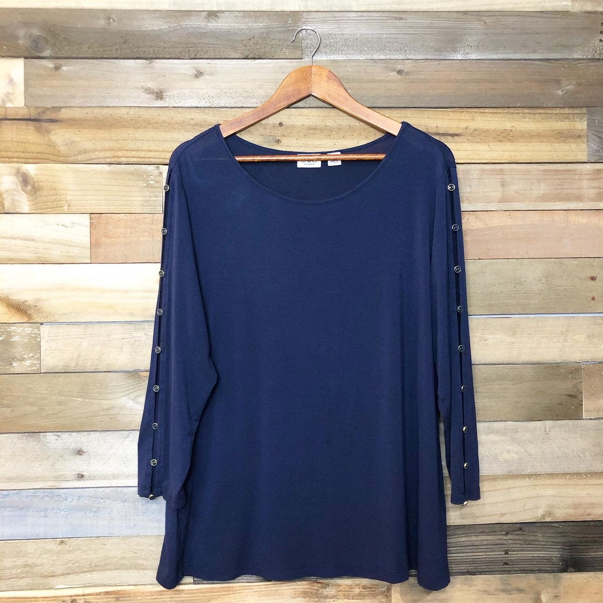 Cato Blue Button Blouse