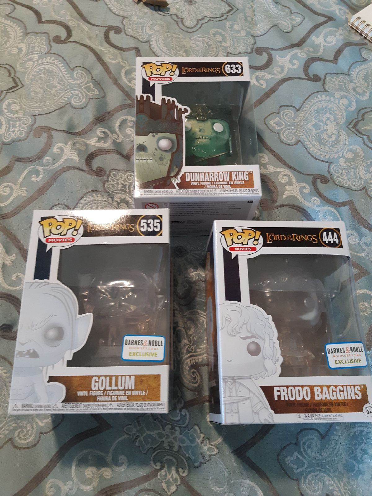 Lot of 3 Lord of the Rings pop figures