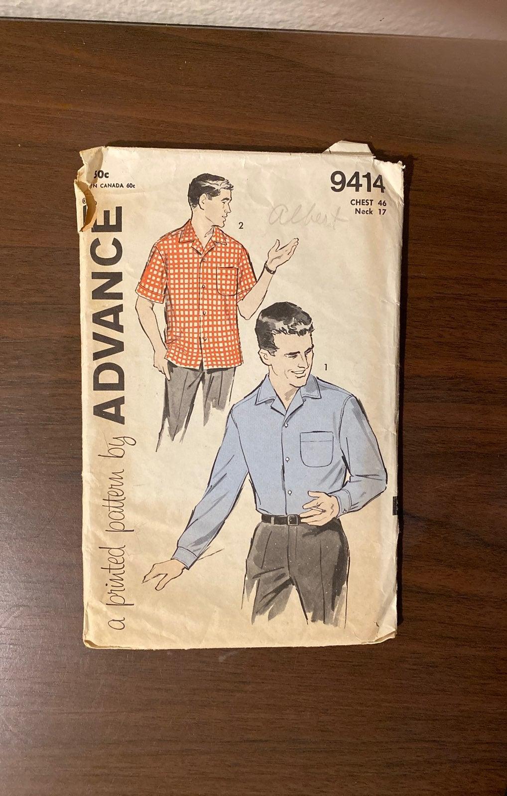 Vintage Advance Men's pattern 9414