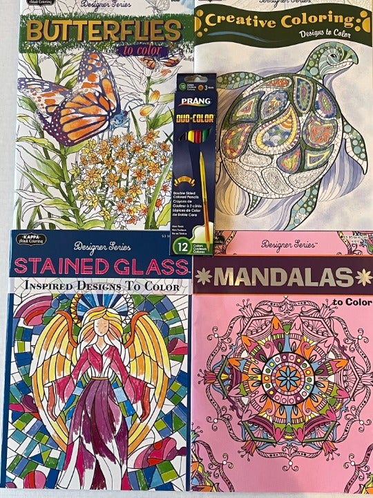 4 Kappa Designer adult coloring books