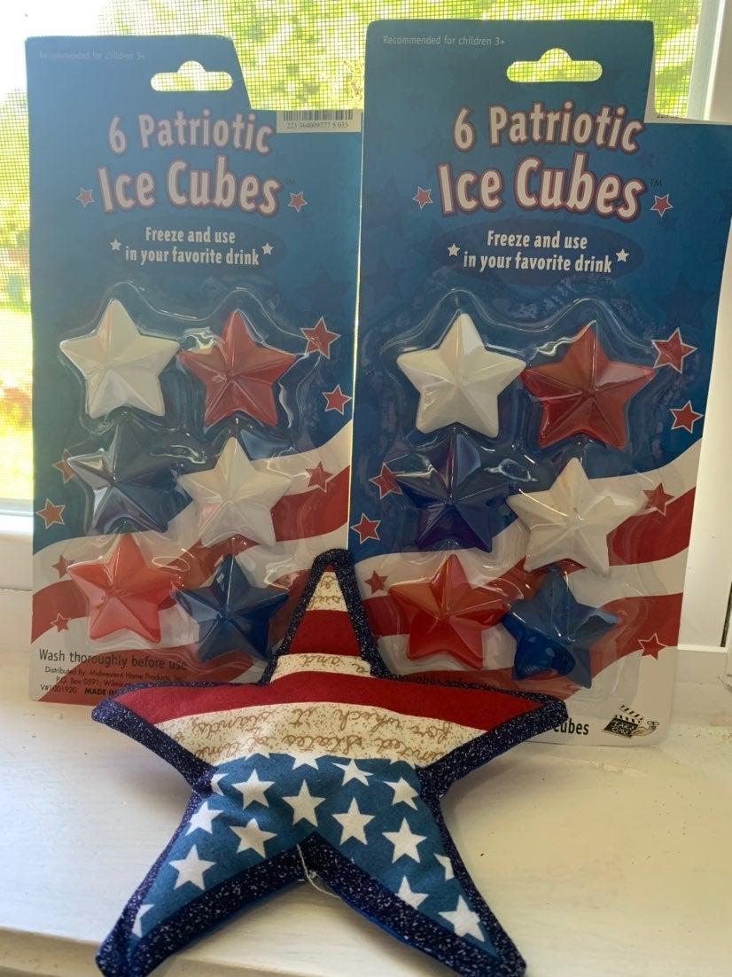 Patriotic ice cubes
