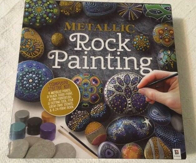 Metallic Rock Painting Kit