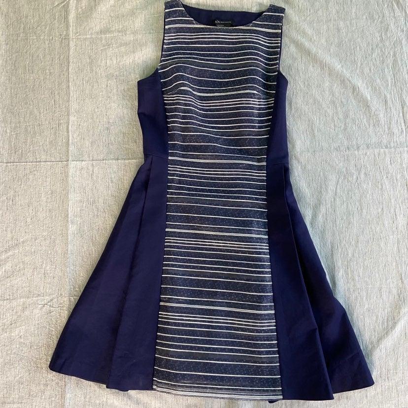 Armani exchange blue skater dress