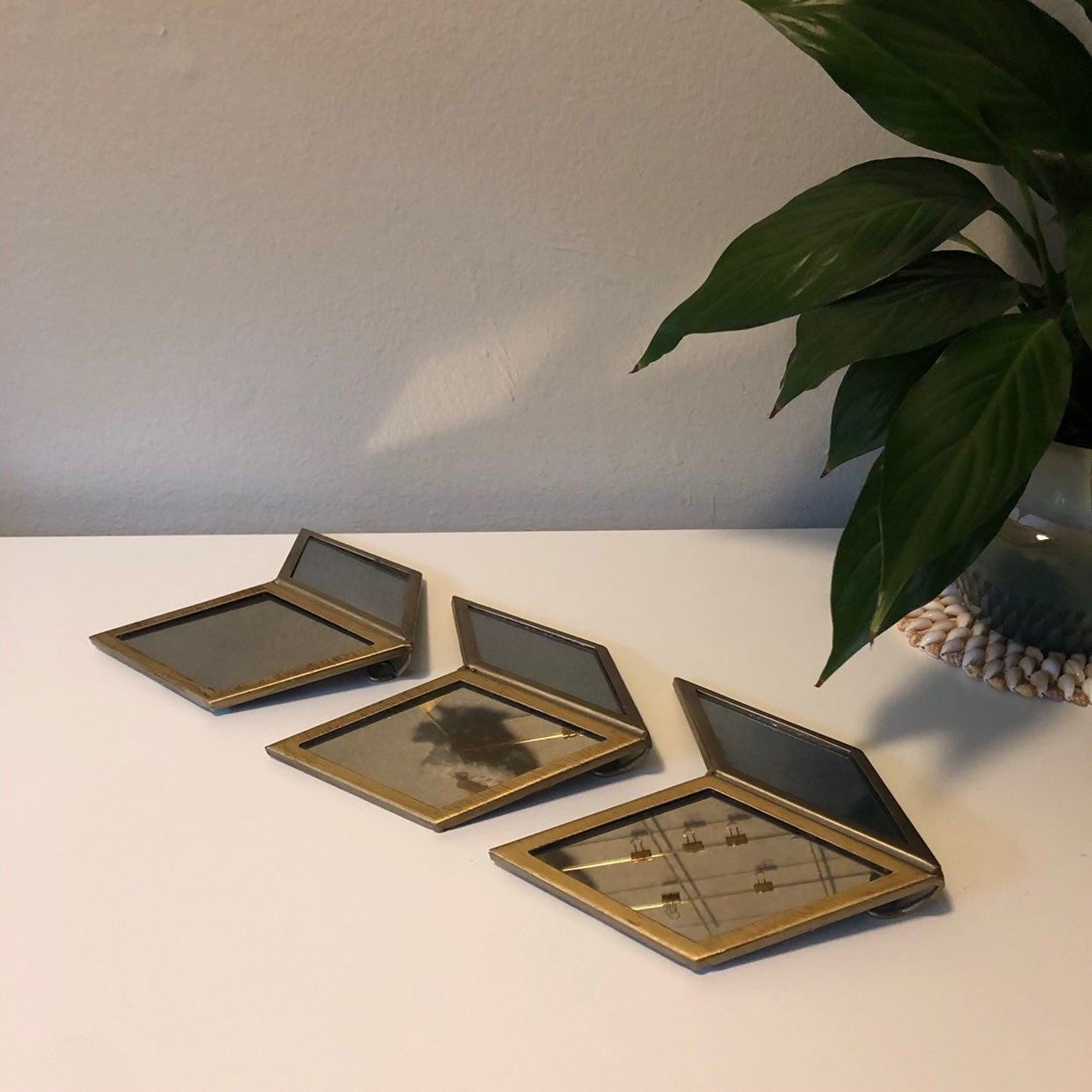 Chevron MCM wall mirrors