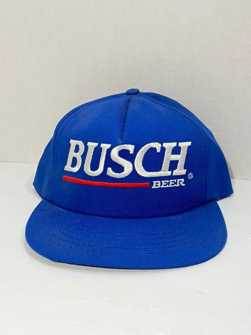 Vtg Busch Beer Logo Spell Out Hat