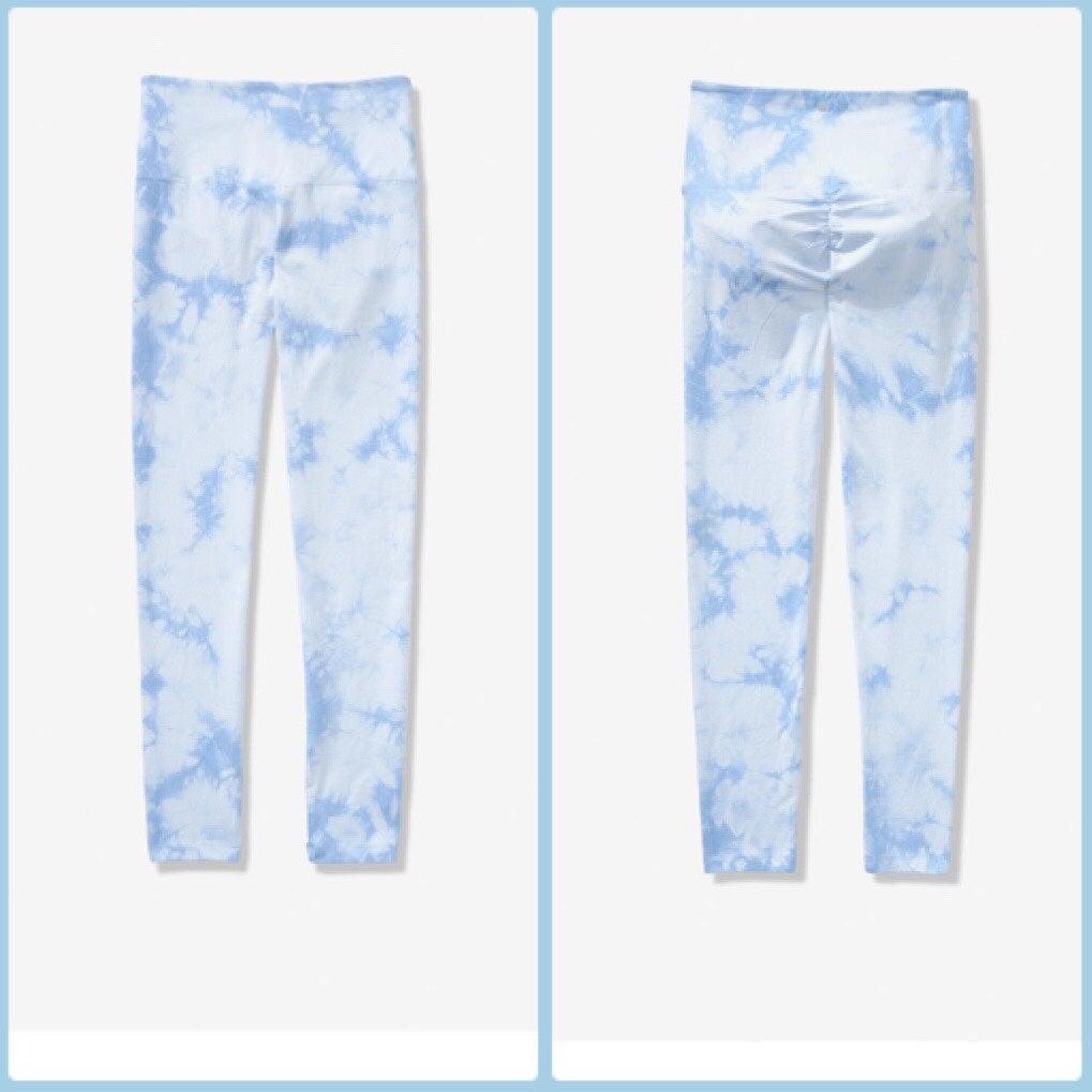 PINK large tie dye leggings
