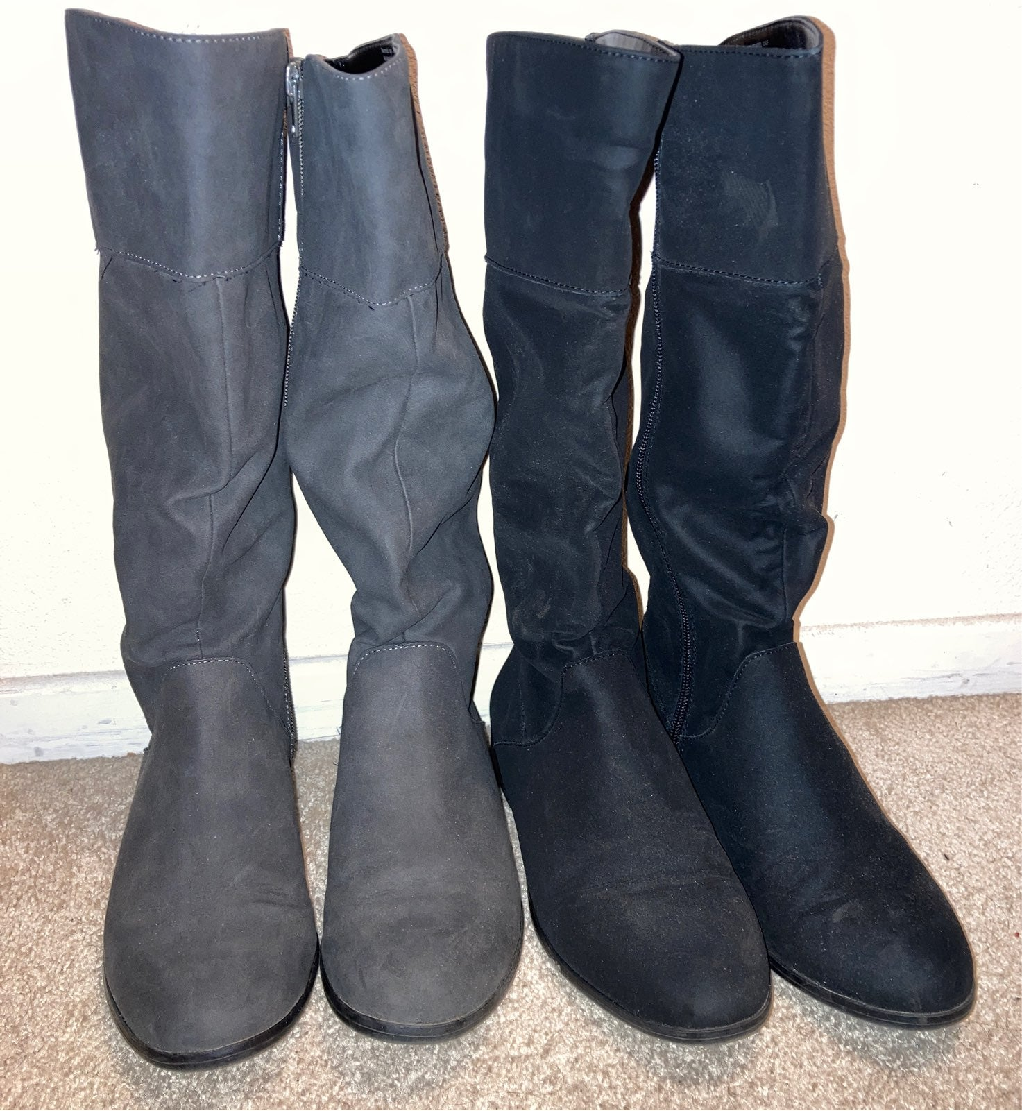 Womens Ruched Mid-Calf Boots lot