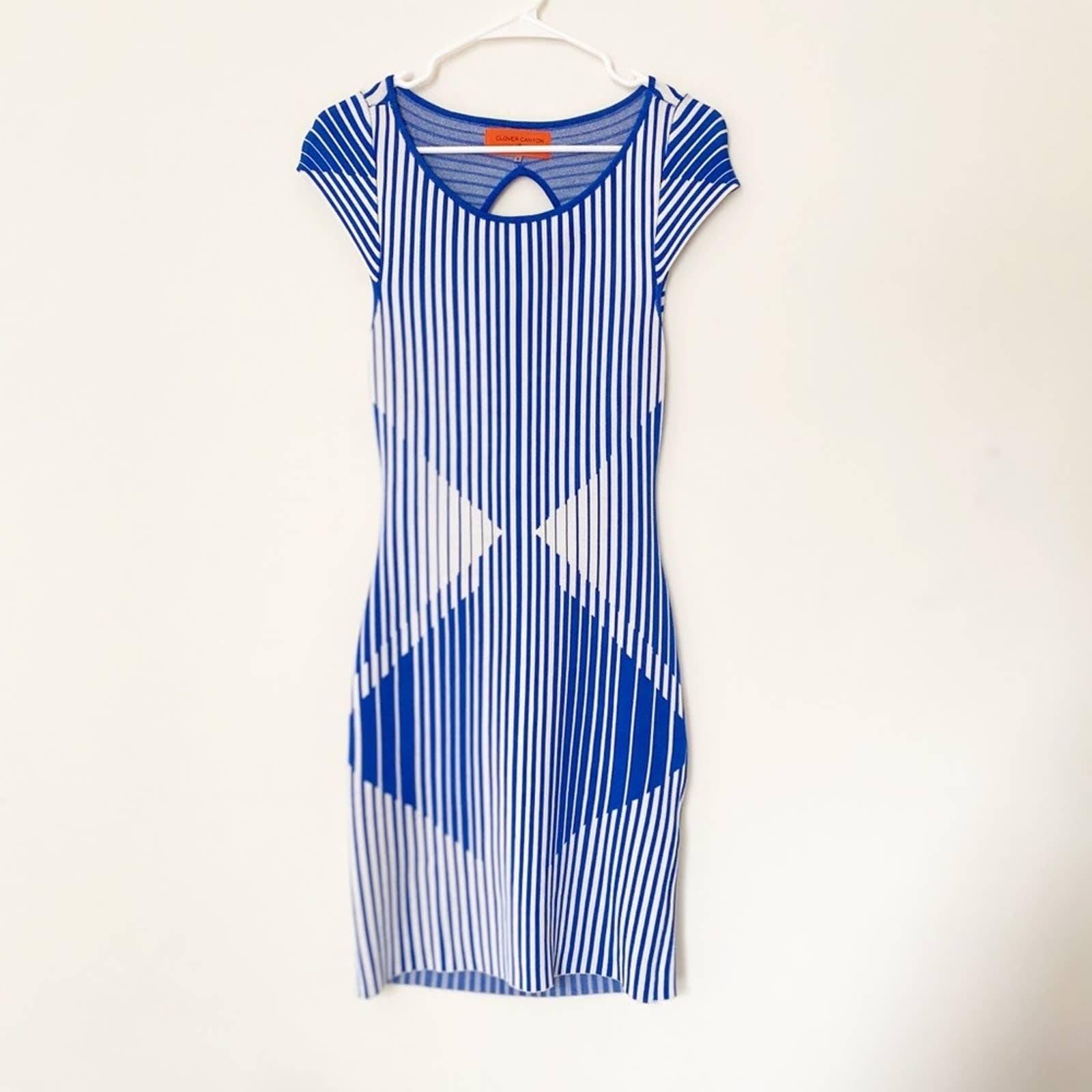 Clover Canyon Blue Bodycon Dress Small