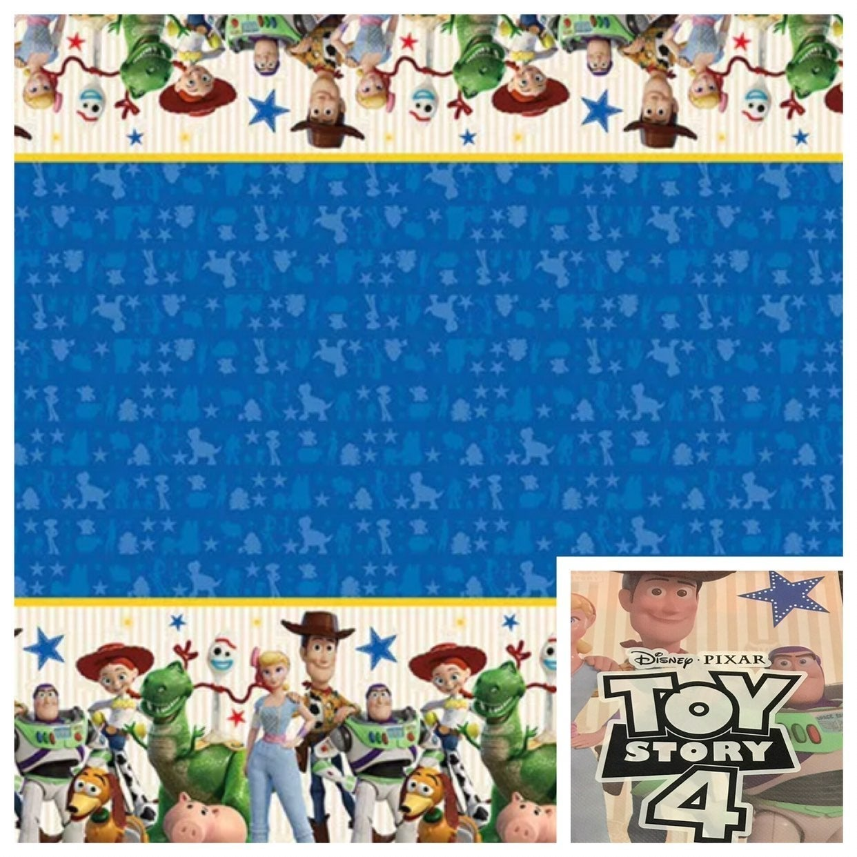 2 Pack Disney Toy Story 4 Table Covers