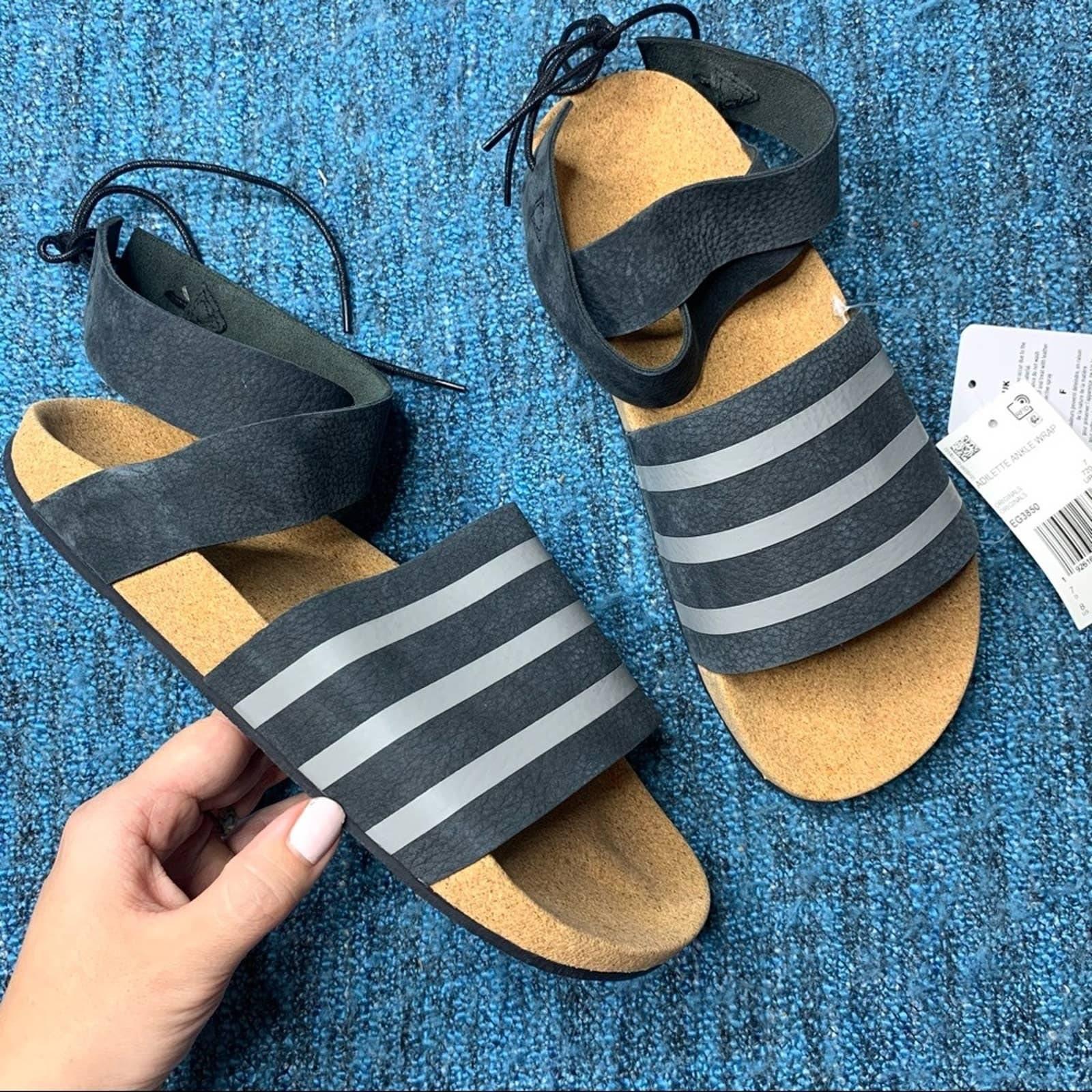 NWT Adidas Adilette Ankle Wrap Sandals 8