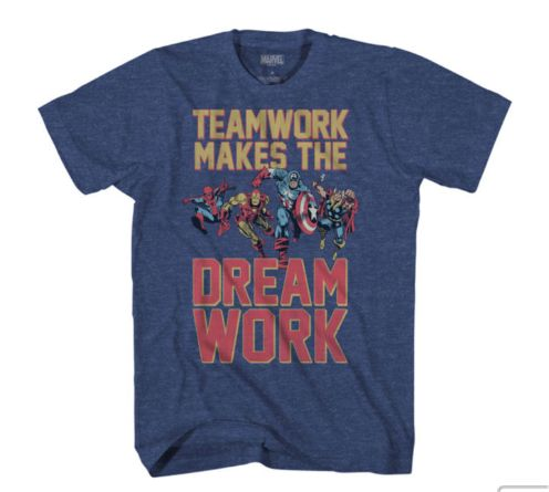 Team Work Marvel Comics T-shirt