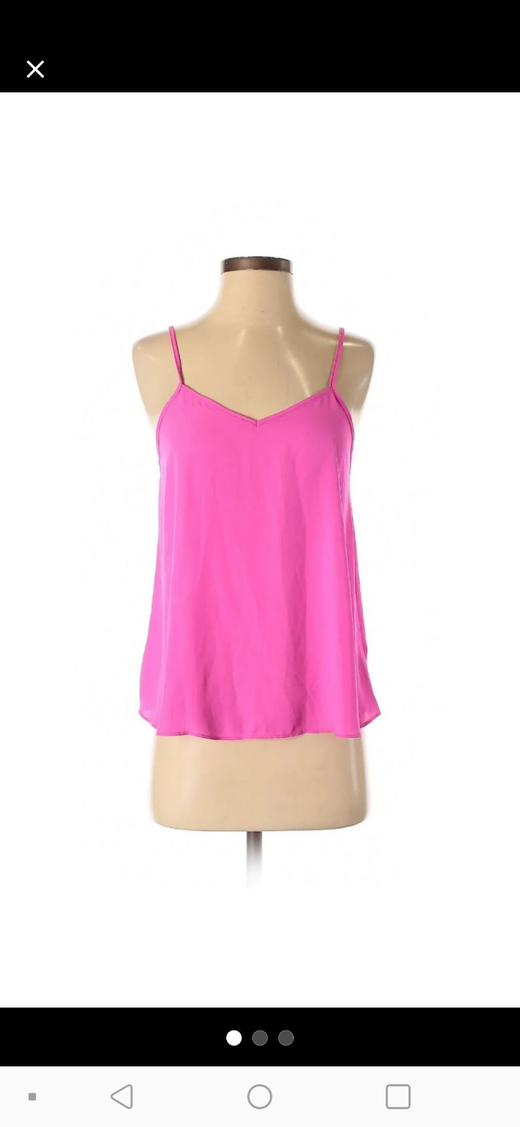 Topshop hot pink tank top