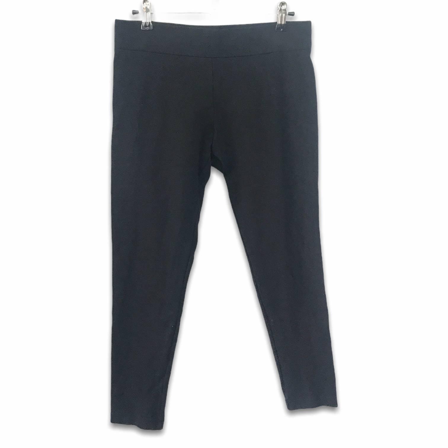 Black wide waistband cropped leggings