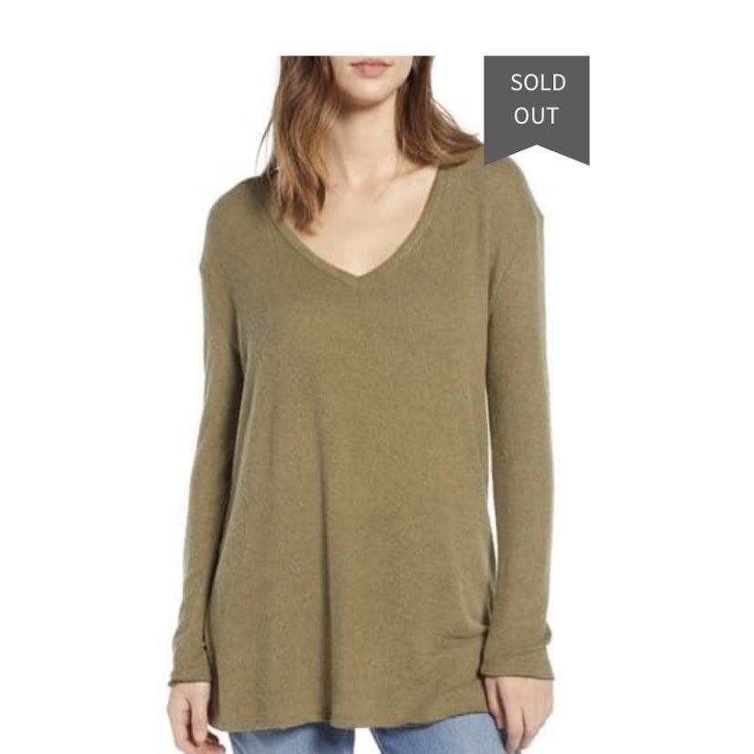 BP Nordstrom cozy vneck cozy sweater XS