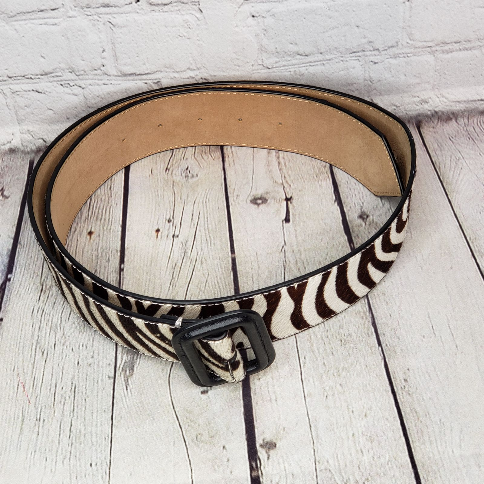 talbots Zebra Belt M
