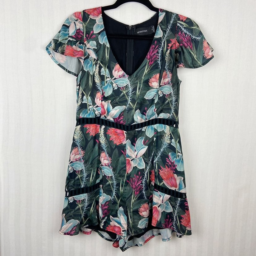 Sexy Floral MINKPINK Romper Small