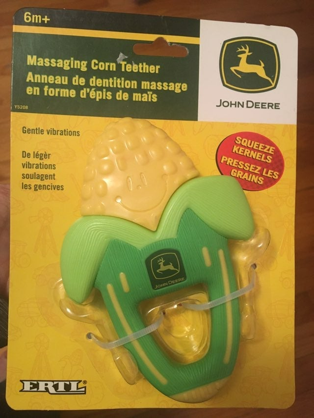 John Deere Massaging Corn Teether NEW