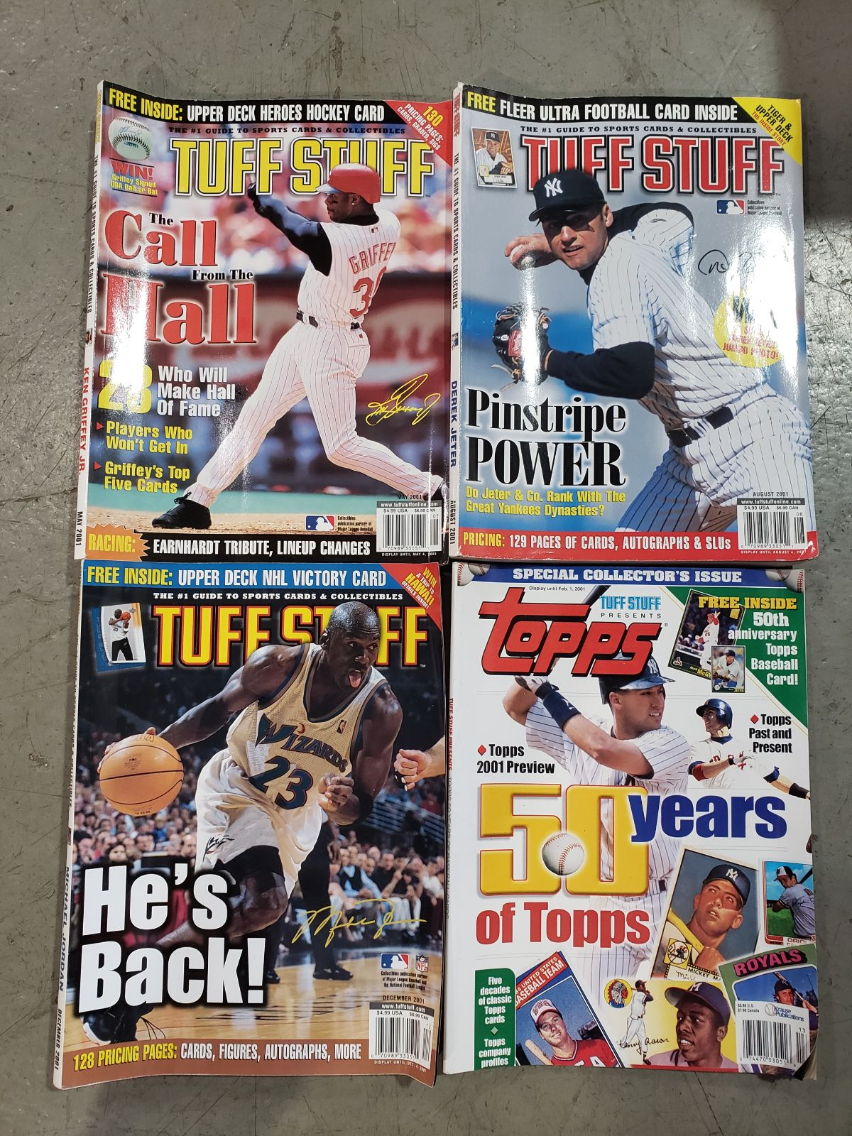 Lot of 4 Tuff Stuff Sports Card Magazine