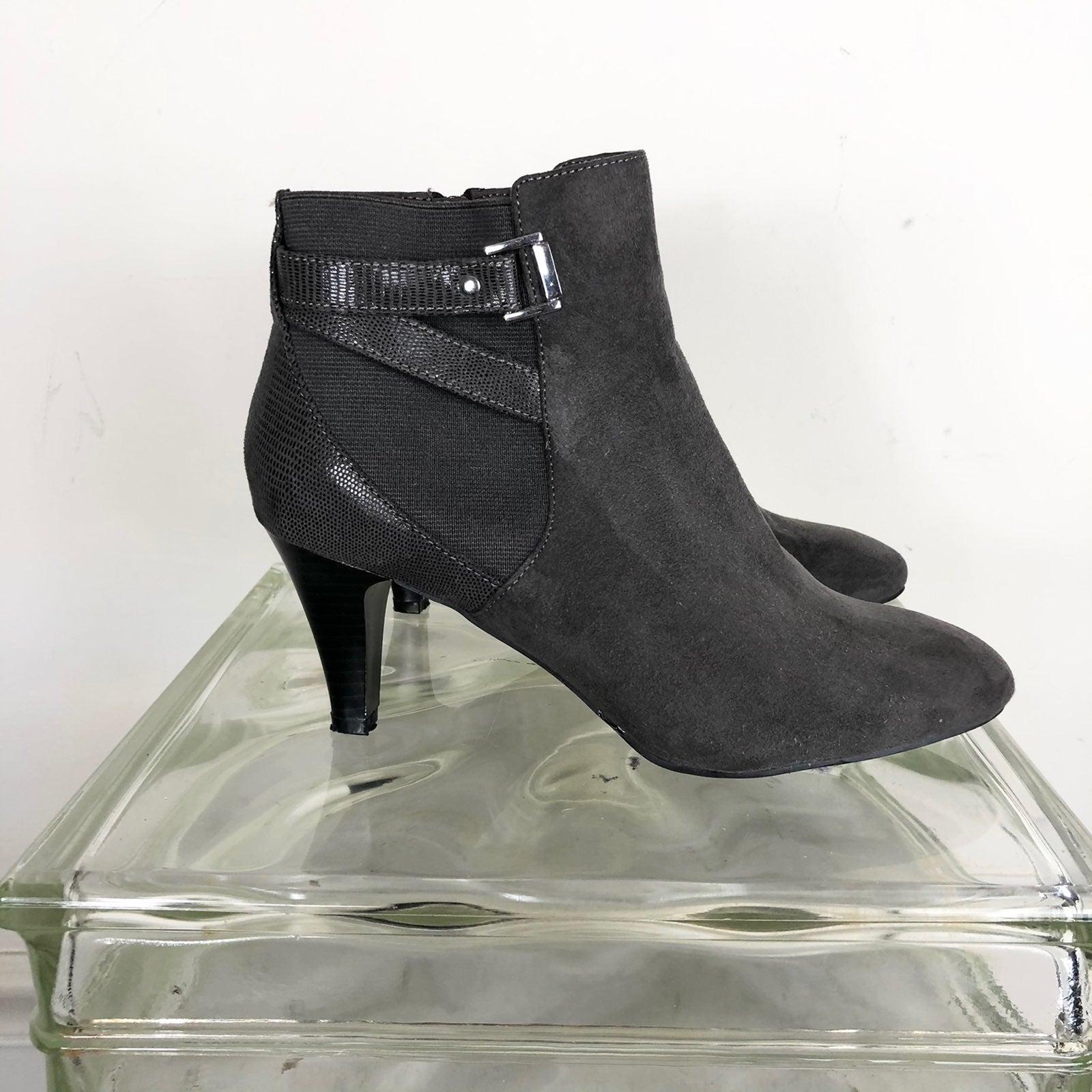 Karen Scott Grey Suede ankle boots 8