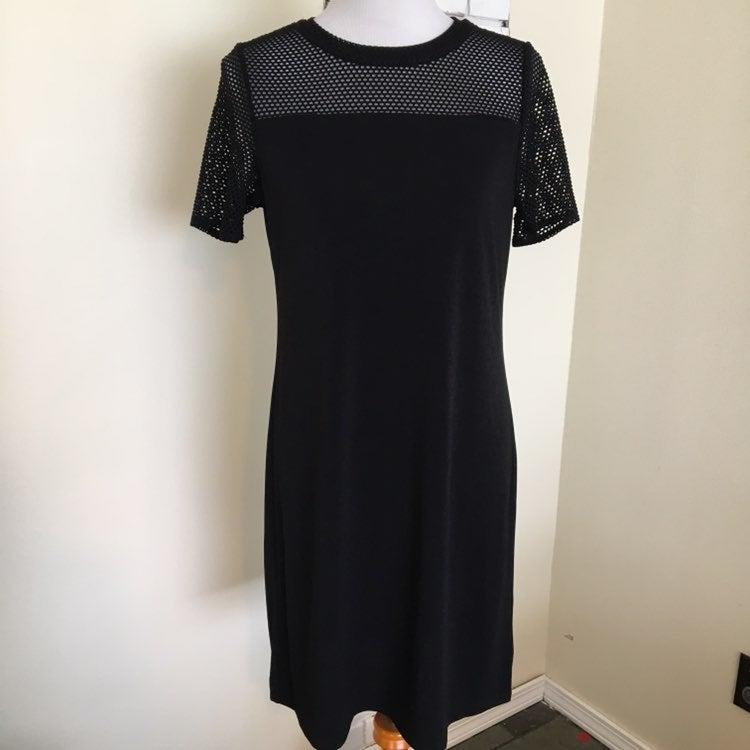 Michael Kors Dress LBD M Sheer Mesh Top