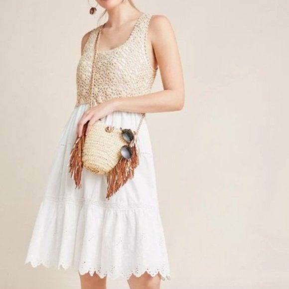 Anthropologie Beckett Crochet Dress
